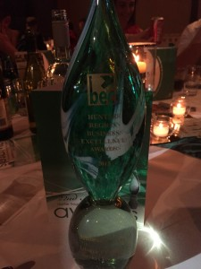 Lifestyle Cleaning Services won the 2015 Business Services Award from the 22nd Hunter Region Business Excellence Awards