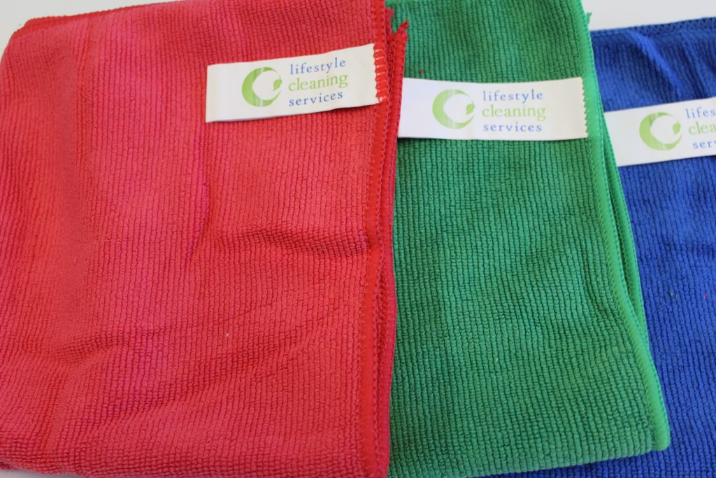 Microfibre cloths are used by Lifestyle Cleaning Services as they are made to attract and capture 99% of germs and bacteria.